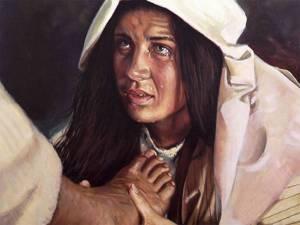 woman washing the feet of jesus