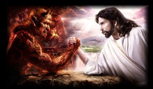 God-vs-the-devil combat