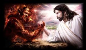 God-vs-the-devil combat