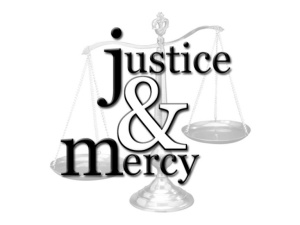 Justice and mercy on a balance