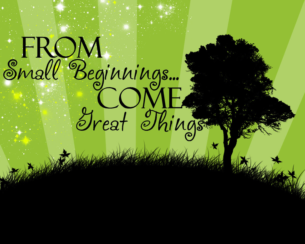 from small beginnings comes great things From small beginnings come great things is such a sweet decal for a kid's room or nursery this cute inspirational quote with dots will look perfect over a crib or.
