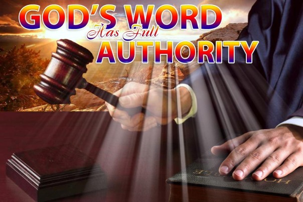 AUTHORITY OF GOD'S WORDS