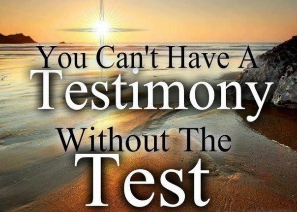 test and testimony