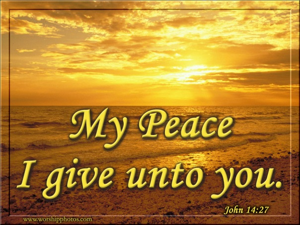 My peace I give you