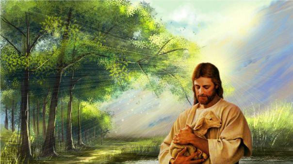 JESUS AND A LAMB 2