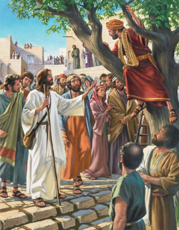 Zacchaeus and the crowd